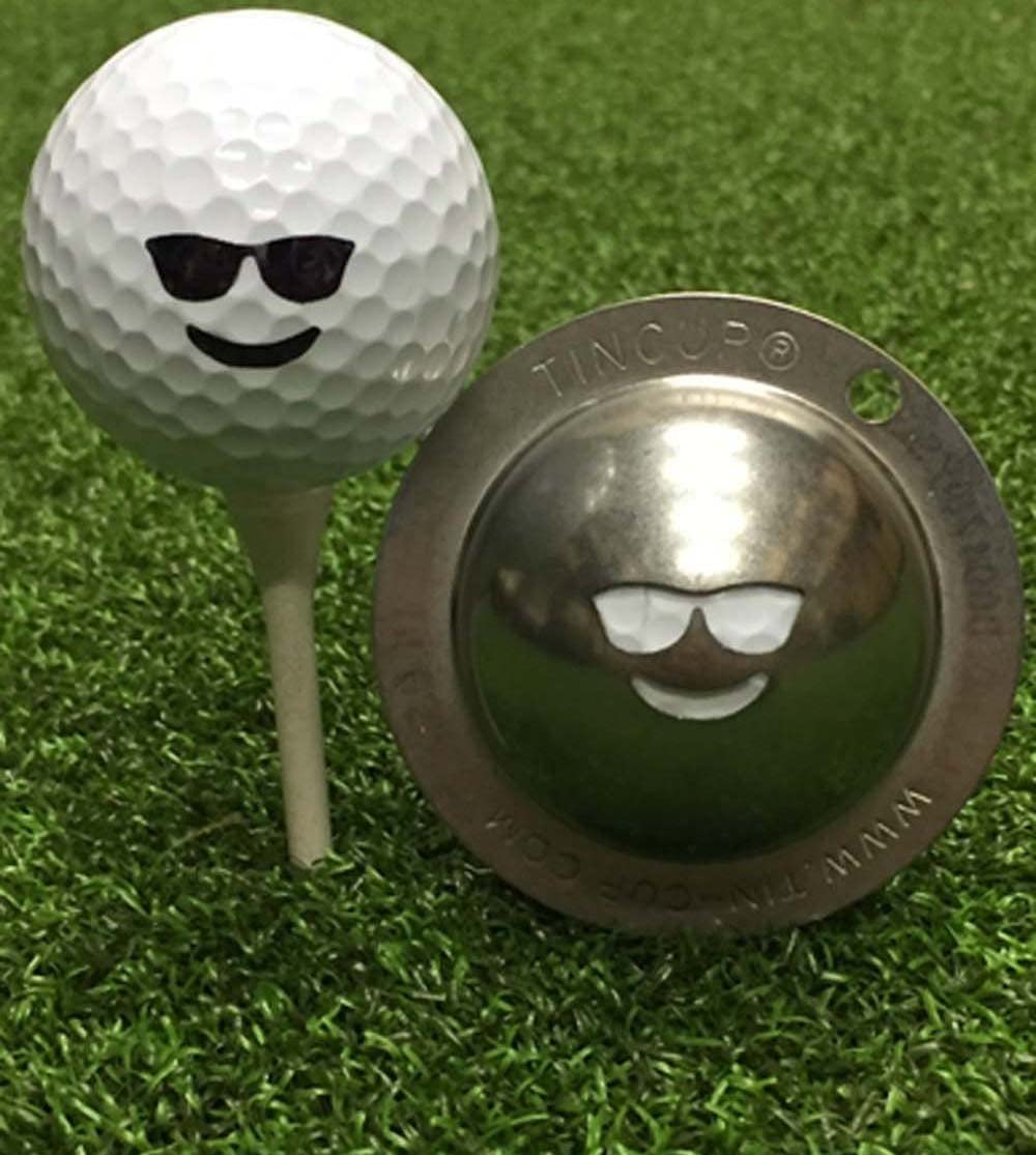 LLarnn Tin Cup Chillin' Golf Marker Max 42% OFF Ball sold out Tool Alignment Custom