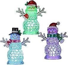 Bayda 3 Stks Ice Cube Sneeuwpop Kerst Ornament Kerst Nachtlampje Kerst Gift Kerst Sfeer Licht