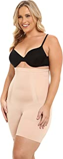 Women's Plus Size Oncore High-Waisted Tummy Control Mid-Thigh Short