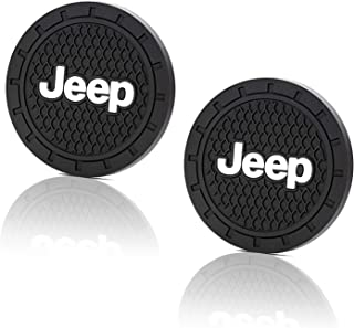 JIYUE 2 Pcs 2.75 inch Vehicle Travel Auto Cup Holder Insert Coaster Mat for Jeep All Models
