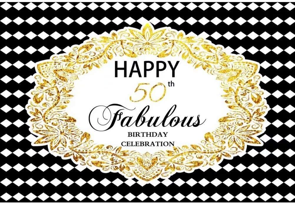 7x5FT Vinyl Photography Backdrop Happy Birthday Chandelier Diamonds Decoration Denim Blue Photo Background Event Party Decoration Portrait Photo Shoot Studio Photo Booth Props