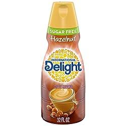 International Delight Hazelnut Coffee Creamer Sugar Free Quart, 32 Ounce