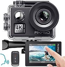 AKASO Action cam 4K/60fps /Action Kamera 20MP WiFi mit Touchscreen EIS 40M unterwasserkamera V50 Elite mit 8X Zoom Sprachs...