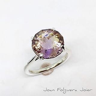 Wow!! Maravilloso anillo en plata de ley con gran y excepcional Ametrina natural de 6.76 quilates de medidas (13.0 x 12.7 ...