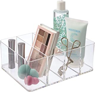 STORi Clear Plastic Vanity, Craft, and Plush Toy Organizer | 4-Compartments