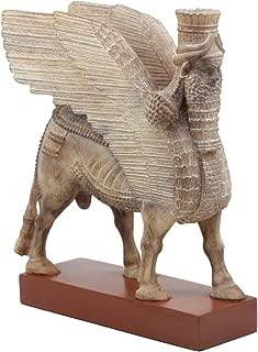 Ebros Ancient Assyrian Lamassu Bull Statue 8.5