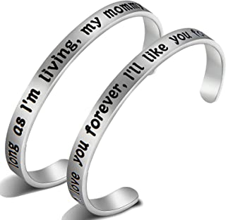 I'll Love You Forever Mother Daughter Bracelets Set Mommy and Me Jewelry Gifts for Mom