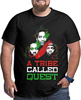 UiikIIDl Camisetas y Tops Hombre Polos y Camisas A Tribe Called Quest Mens Big Size Stylish Cotton Crewneck Short Sleeve Tshirt Black