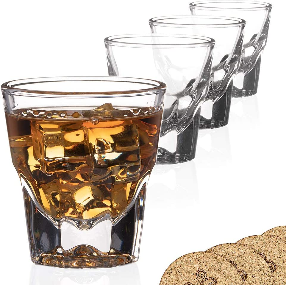 free shipping Set of 4 Gibraltar Rocks Ranking TOP9 Espresso co Glasses ounce 4.5 for -