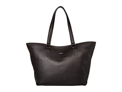 Lipault Paris Invitation Leather Tote Bag (Black) Bags