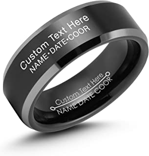 tungsten army rings