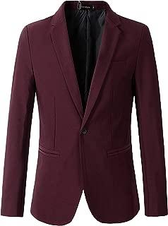 Men's Casual 1 Button Slim Fit Blazer Jacket Sport Coat