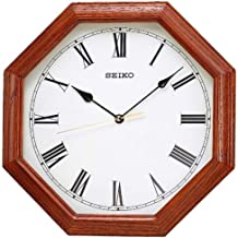 Seiko Wall Clock (32 cm x 32 cm x 4.3 cm, Brown, QXA152BN)