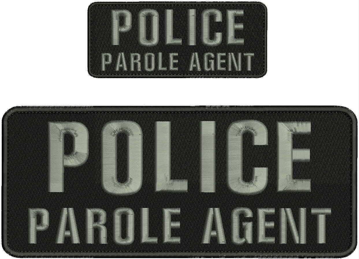 At the price Hook on Back Embroidered Patch Large discharge sale Agent Parole Embroidery of Police