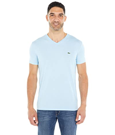 Lacoste Short Sleeve Pima Jersey V-Neck T-Shirt (Overview) Men