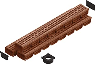 Standartpark- 4 Inch Trench Drain System with Grate - TERRACOTTA (3)
