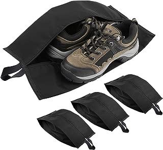 Luxspire 便携式旅行鞋袋收纳盒带拉链闭合(39.37 厘米),黑色