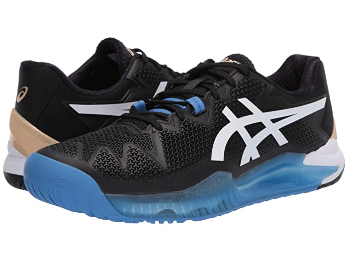 ASICS  Gel-Resolution 8 (Black/White) Mens Tennis Shoes