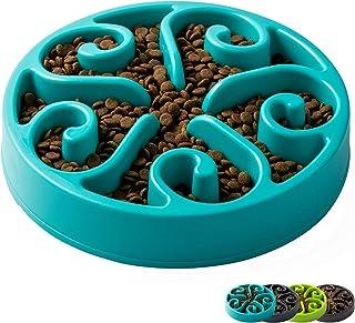 IMHAPO Slow Feeder Dog Bowl, Large 500ml Pet Slow Down Feeding Dishes, Maze Interactive Dog Puzzle, Fun Feeder Bloat Stop ...