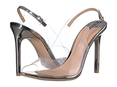 Tony Bianco Mystery (Clear Vynalite/Gunmetal Shine) Women
