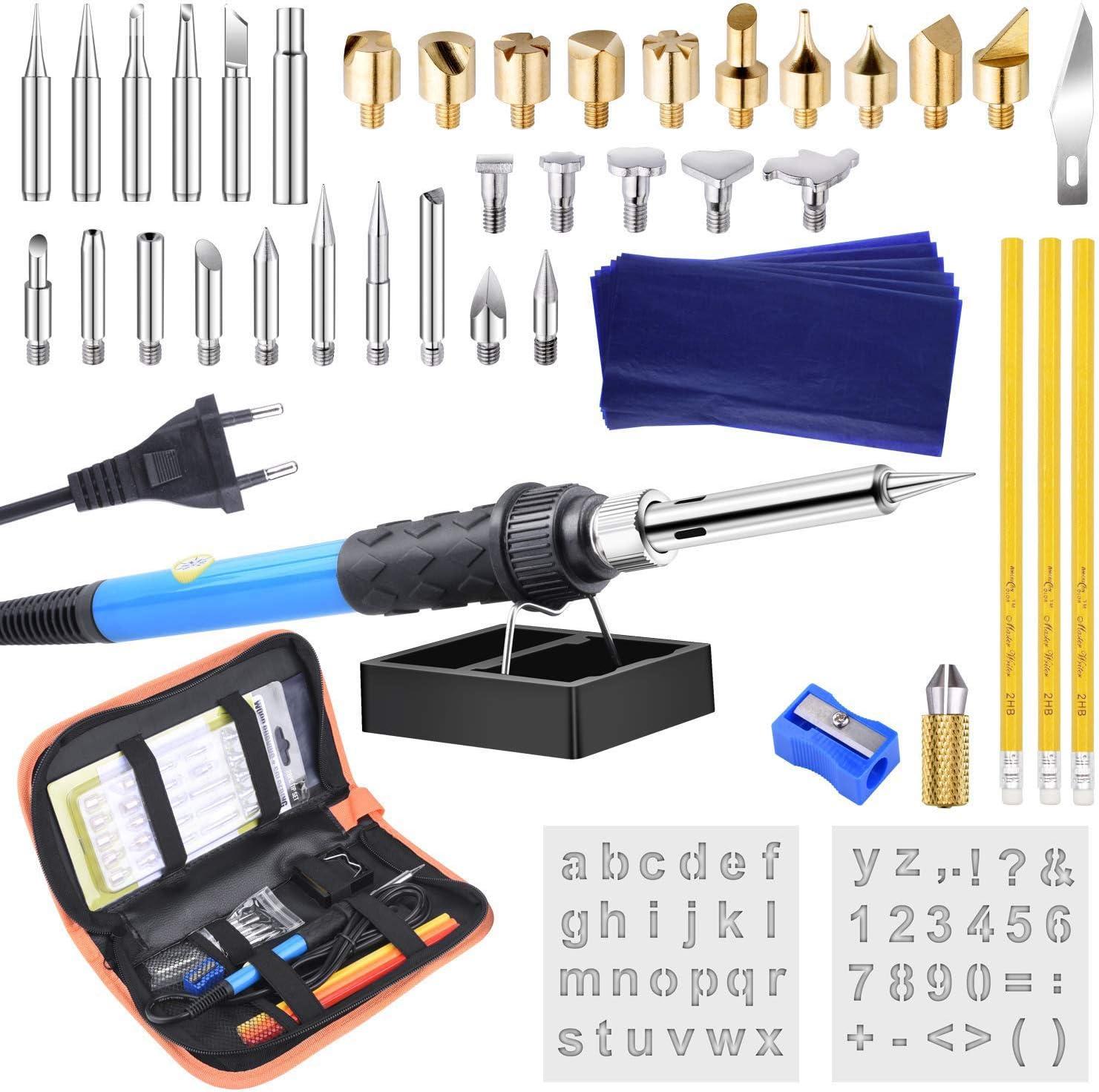 discount MOHANBTO 48PCs Pyrography Soldering Iron Pen online shopping f Burning Set Tool