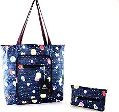 Foldable Tote Bag for Women-Top Zipper Closure Premium Quality Lightweight Cute