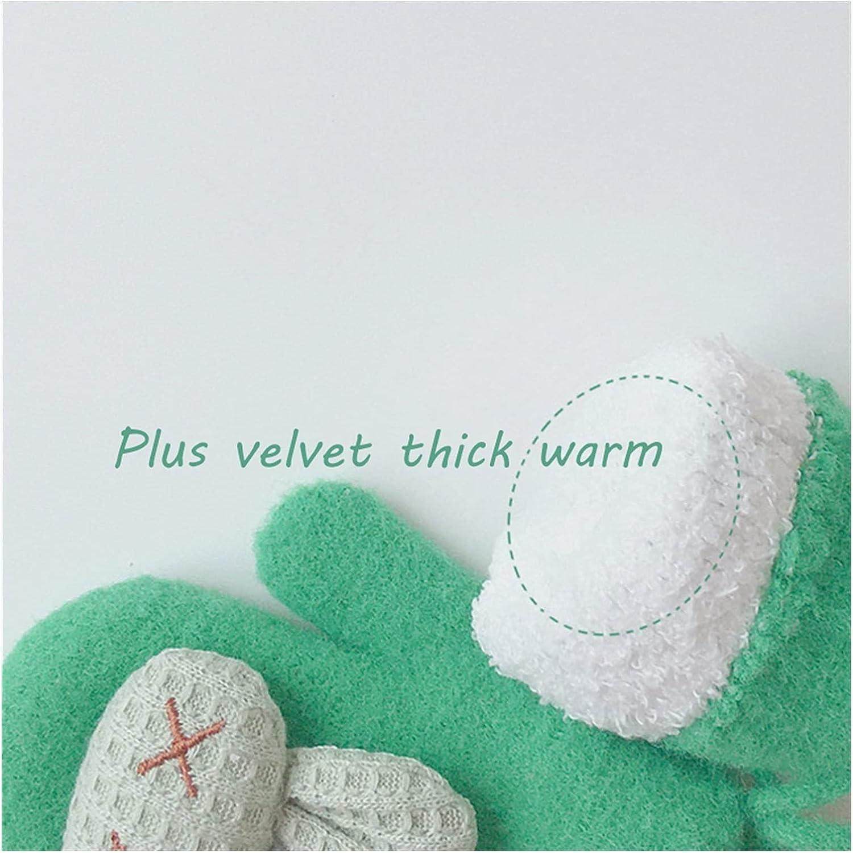 JSJJAWS Winter Gloves Winter Warm Baby Gloves Cartoon Animal Kids Gloves for Baby Girl Boy Soft Nylon Children Mittens (Color : Beige)