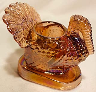 Toothpick Holder - Turkey - Mosser Glass USA (Rose Golden Carnival)