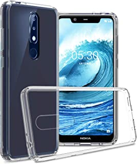 CoverON Hard Slim Fit ClearGuard Series for Nokia 5.1 Plus Case (2019), Crystal Clear