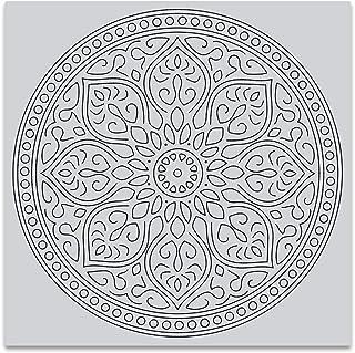 Hero Arts Mandala Bold Prints Unmounted Cling Rubber Stamp (CG726)