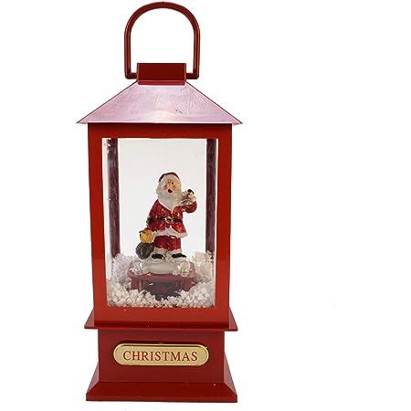 con Babbo Natale con fiocchi di neve e fiocchi di neve Heasylife Scatola per telefono con sfera di neve 2 modalit/à di ricarica per Natale o regalo