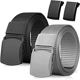 Nylon Belt, Men Military Tactical Breathable Belt. fast through the airport Metal security Detect