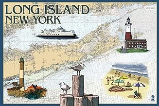Long Island, New York - Nautical Chart (16x24 Giclee Gallery Print, Wall Decor Travel Poster)