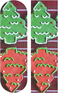 Ernest Congreve Chocolate Christmas Tree Sugar Cookies Skateboard Griptape 9 x 33 inch Anti Slip Longboard Skateboard Griptape Grip Sheet Scooter Grip Tape Waterproof