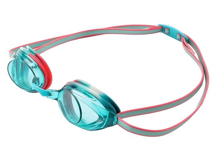 Speedo Jr. Vanquisher 2.0 (Turquoise/Orange/Aqua Lens) Water Goggles