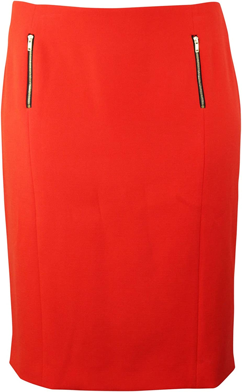 Natan+ Womens Straight Pencil Skirt Plus Size Coral 50,52