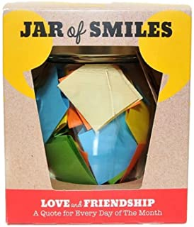 Love & Friendship in a Jar. Month of Thoughtful & Happy Quotations For Your Friends in a 314ml Orcio Glass Jar. Perfect Gi...