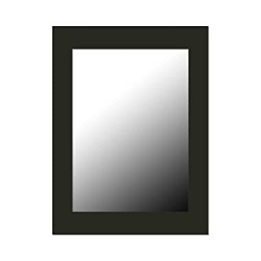 Home Basics DM47051 12  x 16  Wall Mirror, Black