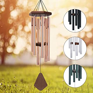 Memorial Wind Chimes Outdoor Large Deep Tone, 30 Amazing Grace Wind Chime Outdoor, Weeding Wind-Chime Personalized with 6 Tuned Tubes, Elegant Chime for Garden, Patio, Balcony and Home, Rose Golden