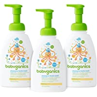 3-Pack 16oz Babyganics Baby Shampoo and Body Wash (Fragrance Free)