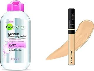 Garnier Skin Naturals, Micellar Cleansing Water, 125ml And Maybelline New York Fit Me Concealer,25 Medium, 6.8ml