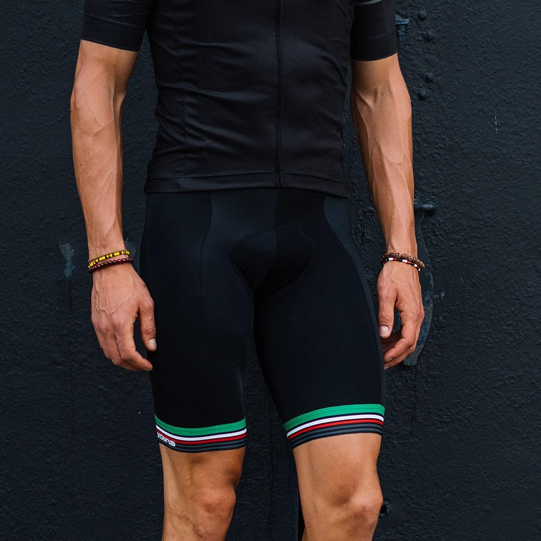 Giordana 2019 メンズ Sette Italia Tenax Pro Moda Bib サイクリングショーツ - GICS18-BIBS-TENA-SEIT
