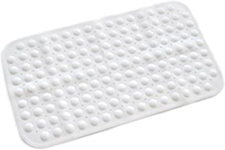ABELE (R Ultra Soft TPR (No Smell) Rubber Bubble Non Slip Baby Kids Safety Shower Bath Tub Mat, Skid Proof and Anti Bacterial, Mildew Mold Resistant Bathtub Mat (White)