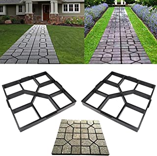 Awaken Patio Concrete Pavers, Concrete Molds and Forms, Cement Molds for Walkways, Stepping Stone Walk Maker Garden Path M...