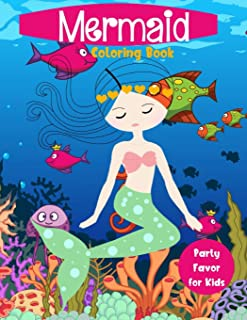 Mermaid Coloring Book Party Favor for Kids: Cute Nautical Themed Coloring, Dot to Dot, and Word Search Puzzles Provide Hours of Fun For Creative Young Children