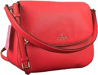 Jackson Medium Flap Shoulder bag Leather handbag in Stoplight