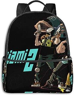 RUGUOSHII Hotline Miami 2 Wrong Number-1 Adjustable Shoulder Backpack With Pockets For Mens Womens Kids