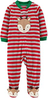 Just One You Baby Boys' Reindeer Microfleece Sleep 'N Play Made by Carter's