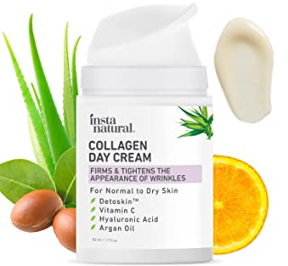 Collagen Face Cream - Anti Aging Daytime Facial Moisturizer - Firming & Tightening Wrinkle Care - Youthful Skin Hydrating ...