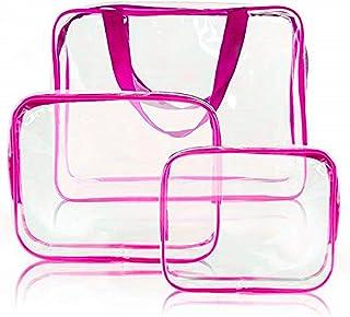 CoWalkers Bolso cosmético transparente de Almacenamiento del artículo de tocador del recorrido del aire de la bolsa de cos...